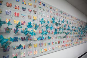 Photo of the Butterfly Project from the Holocaust Center of Pittsburgh
